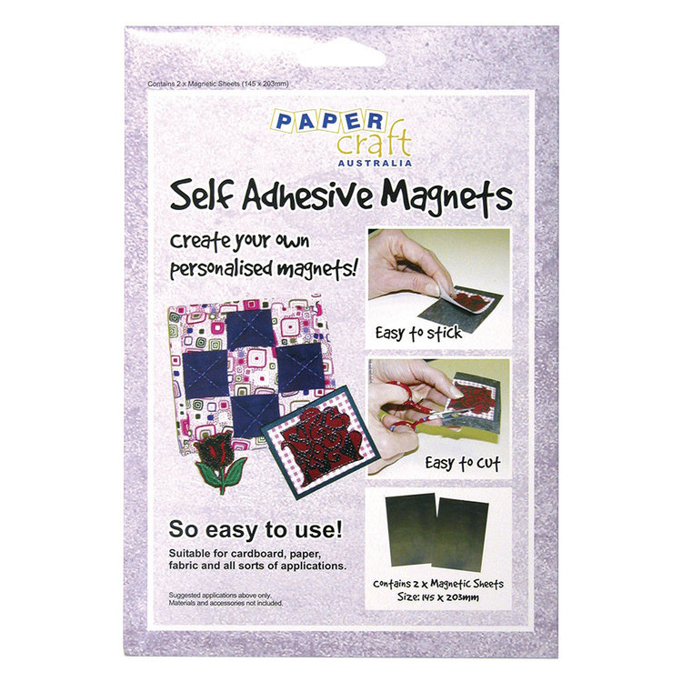 Papercraft Magnet Self Adhesive 2 Pack