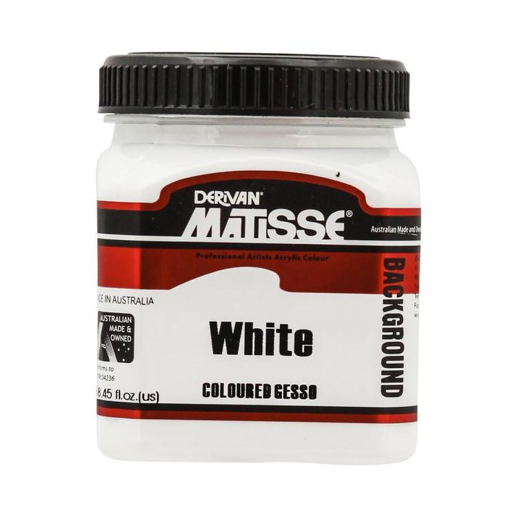 Derivan Matisse Background Paint White 250 mL