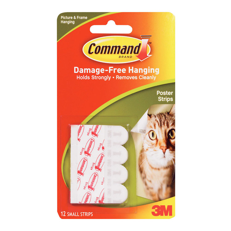 3M Command Poster Strips White