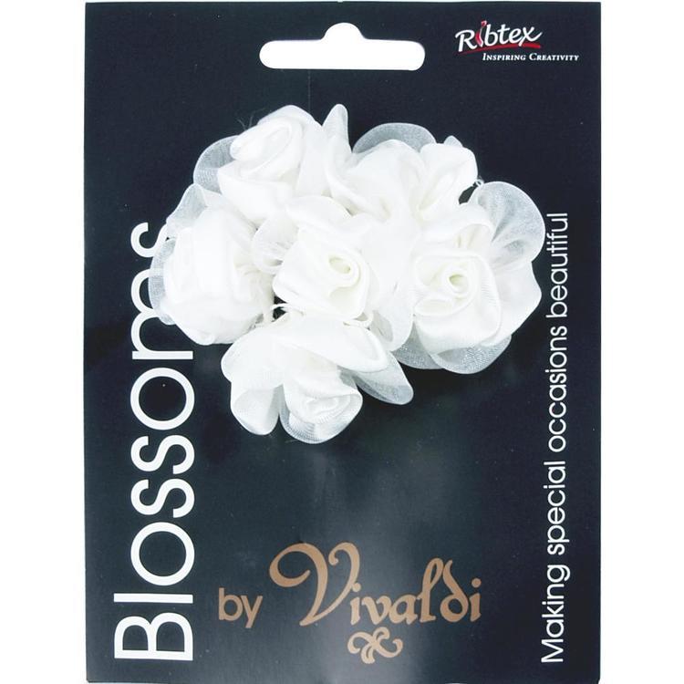 Vivaldi Blossoms 6 Head Medium Roses With Sheer Petals