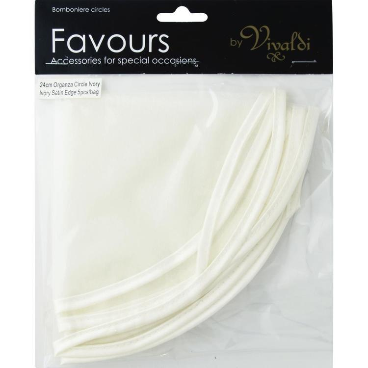 Favours Organza Circle 5 Pack