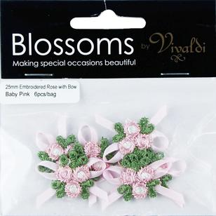 Vivaldi Blossoms Baby Roses With Embroidered Bows