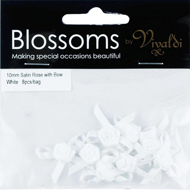 Vivaldi Blossoms Satin Roses With Bows