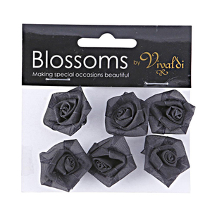 Vivaldi Blossoms Mini Organza Roses 6 Pack