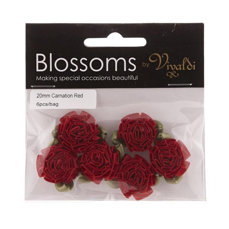 Vivaldi Blossoms Carnations Red 20 mm