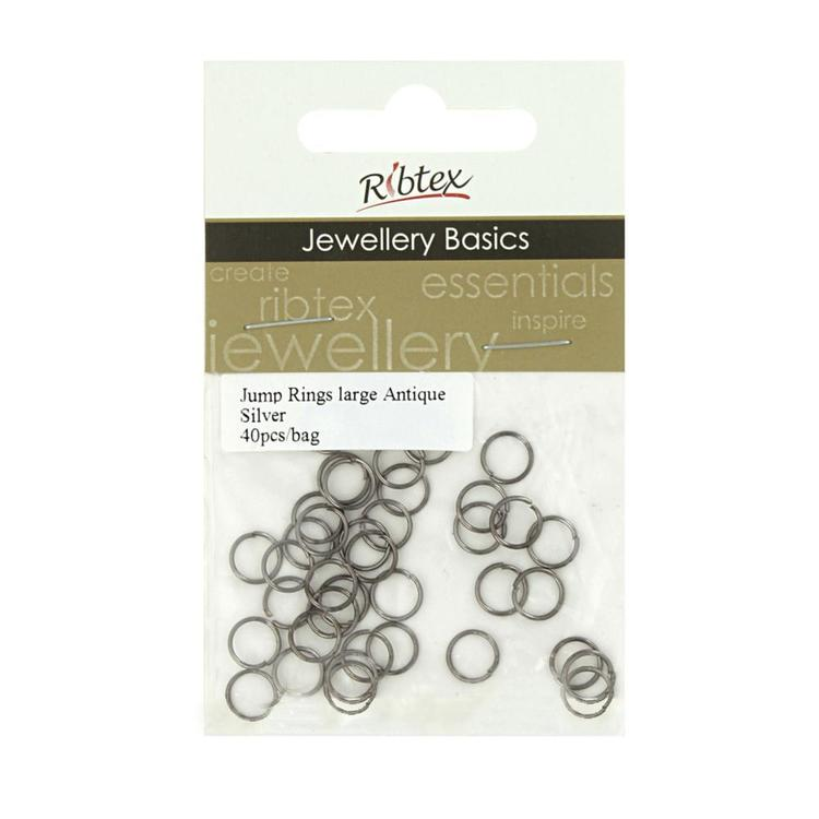 Ribtex Jewellery Basics Jump Rings 40 Pack