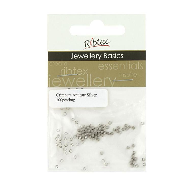 Ribtex Jewellery Basics Round Crimpers 100 Pack