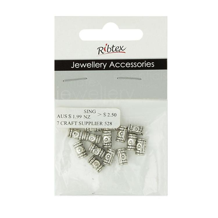 Ribtex Jewellery Accessories Tube Spacer With Target Silver