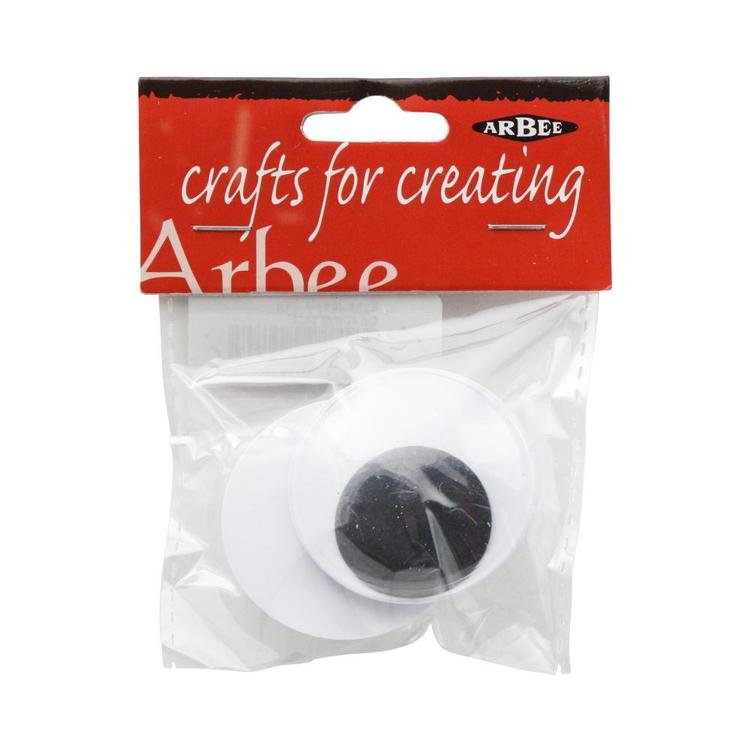 Arbee Sew On Joggle Eyes 2 Pack Black