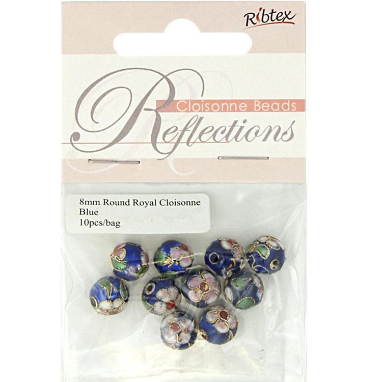 Ribtex Reflections Round Cloisonne Beads