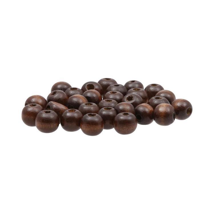 Arbee Round Wood Beads 30 Pack