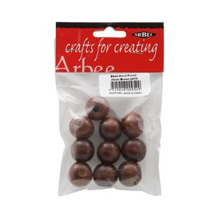 Arbee Round Wood Beads 10 Pack