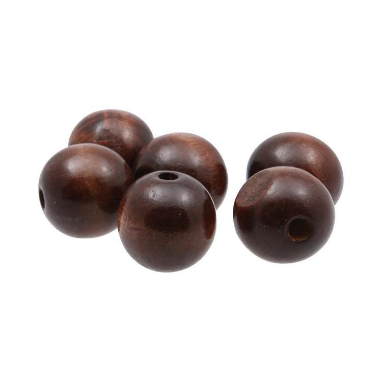 Arbee Round Wood Beads 6 Pack