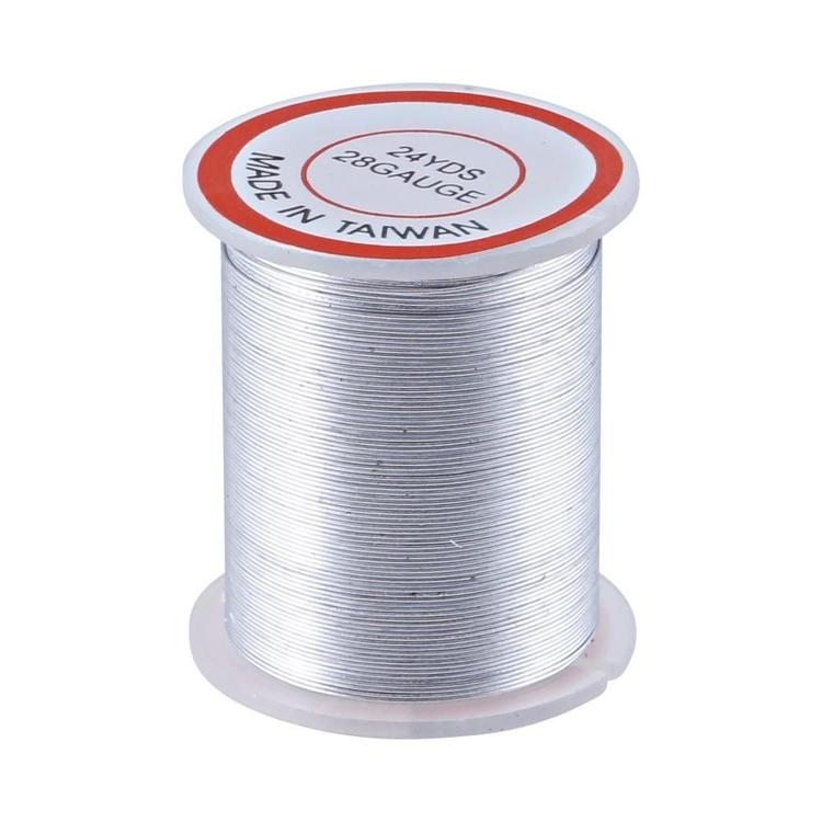 Shamrock Craft Beading Wire Silver