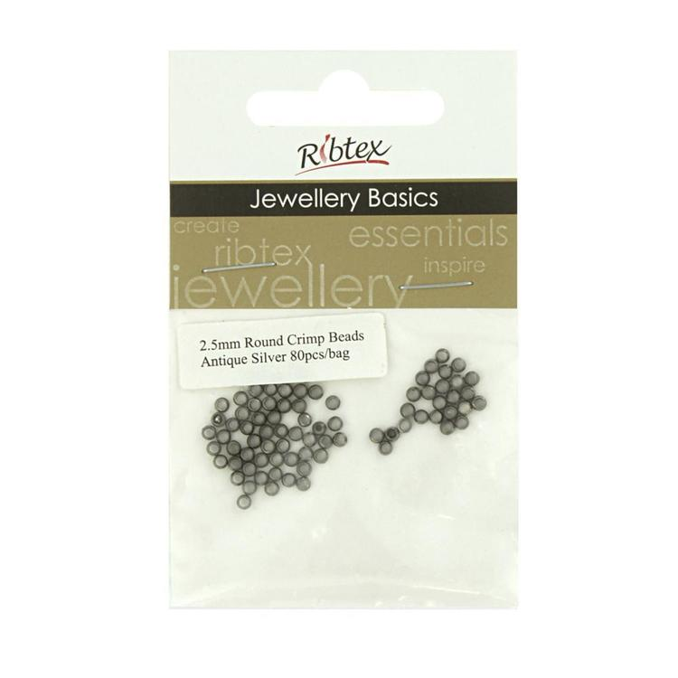 Ribtex Jewellery Basics Round Crimpers 80 Pack