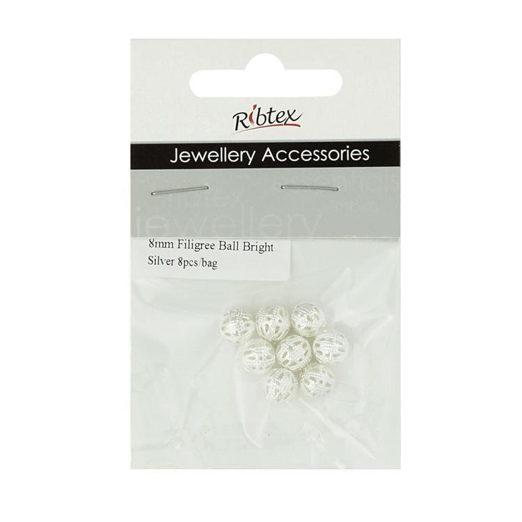 Ribtex Jewellery Accessories Filigree Ball Spacer