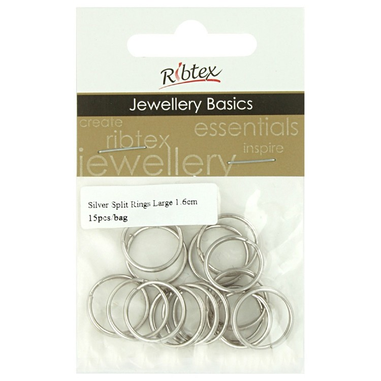 Ribtex Jewellery Basics Split Rings 15 Pack