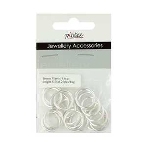 Ribtex Jewellery Accessories Plastic Rings 20 Pack