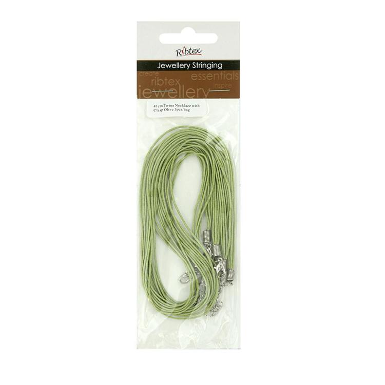 Ribtex Jewellery Stringing Twine Necklace With Clasp