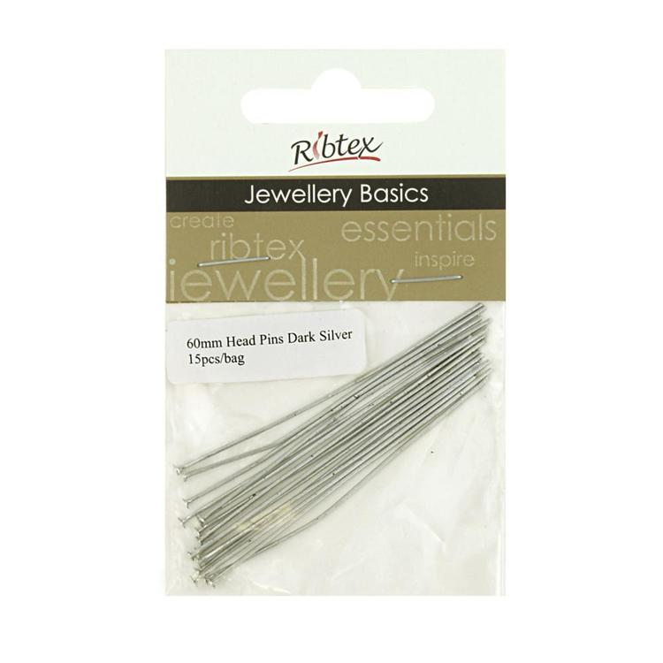 Ribtex Jewellery Basics Head Pins 15 Pack