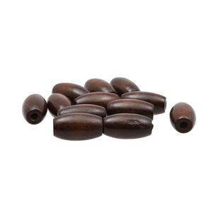 Arbee Oval Wood Beads 12 Pack