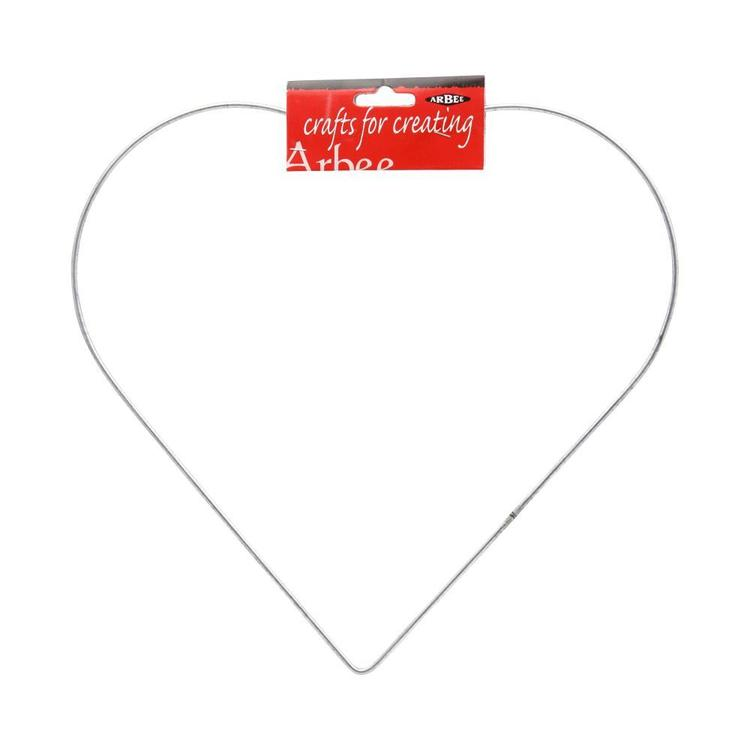 Arbee Galvanised Wire Heart Silver