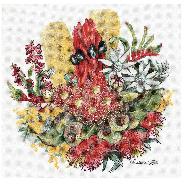 DMC By Leuts Helene Wild Wildflower Bouquet Cross Stitch