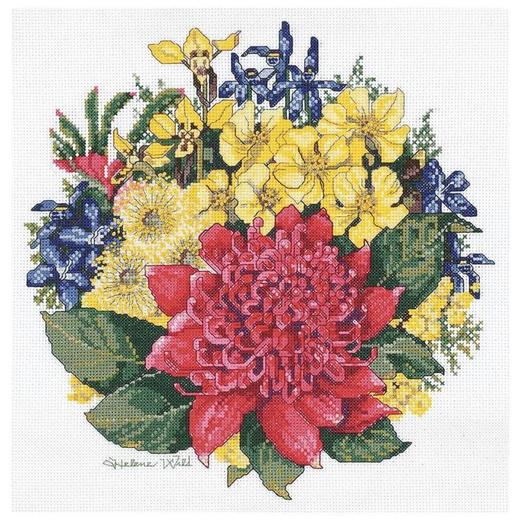 DMC By Leuts Helene Wild Waratah Bouquet Cross Stitch