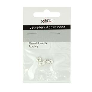 Ribtex Jewellery Accessories Diamante Rondelle Spacer