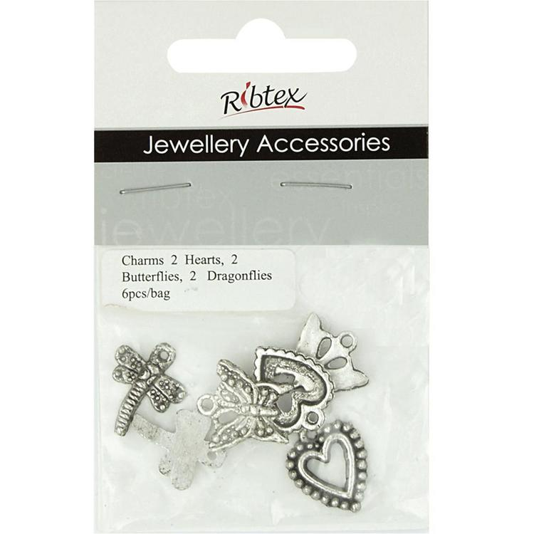 Ribtex Jewellery Accessories Hearts, Butterflies & Dragonflies Silver