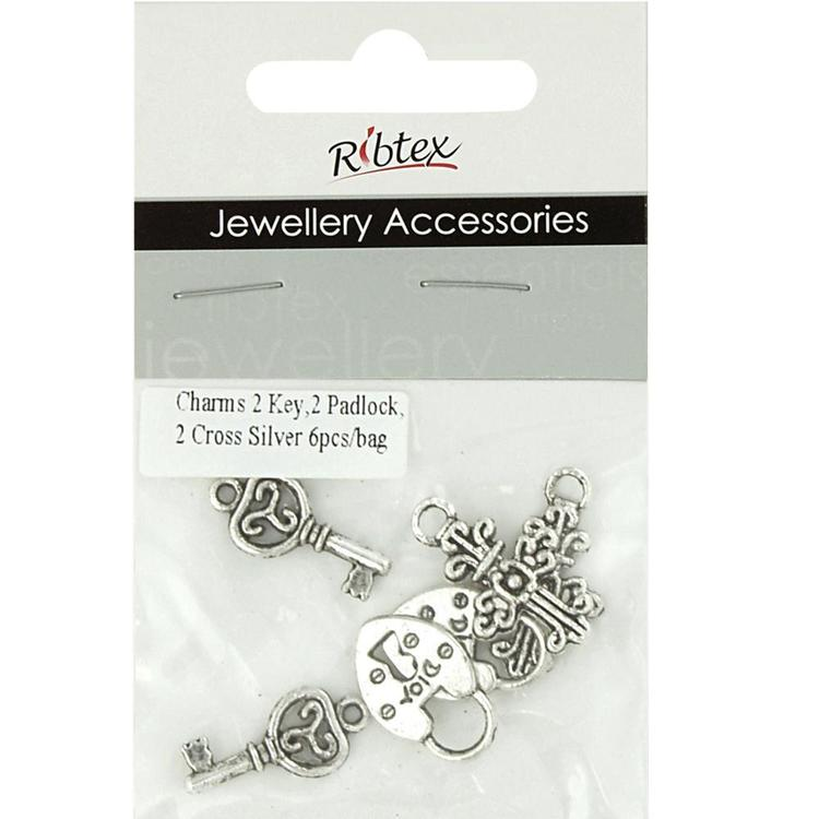 Ribtex Jewellery Accessories Keys, Crosses & Padlocks Silver