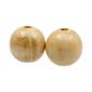 Arbee Round Wood Beads Natural 40 mm