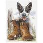 Country Threads Blueys Boots Fiona Judd Cross Stitch Multicoloured