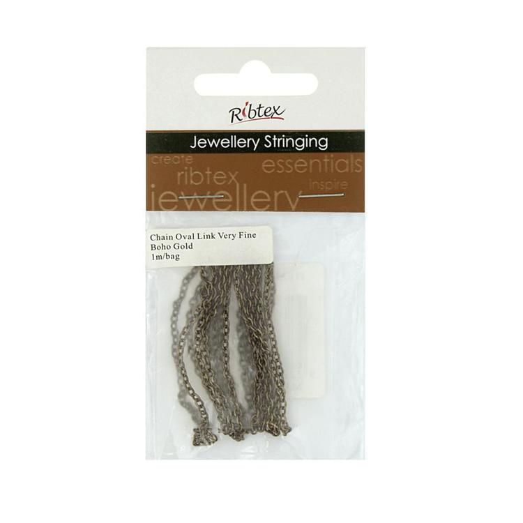 Ribtex Jewellery Stringing Straight Oval Chain