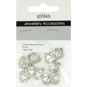 Ribtex Jewellery Accessories Bali Heart Charms 10 Pack