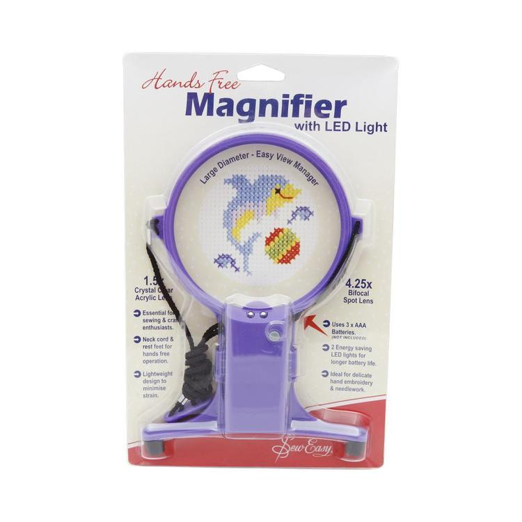 Sew Easy Magnifier Hands Free Craft with Light