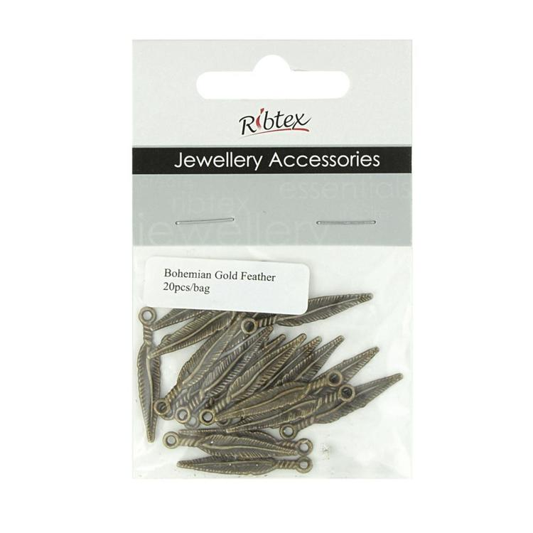 Ribtex Jewellery Accessories Bali Feather Charm