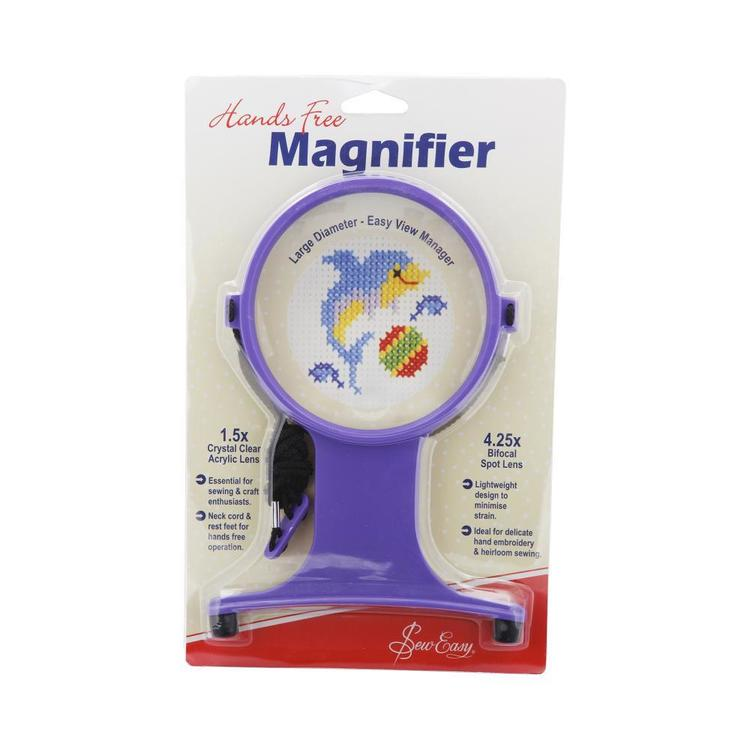 Sew Easy Magnifier Hands Free Craft with Neck Cord Purple