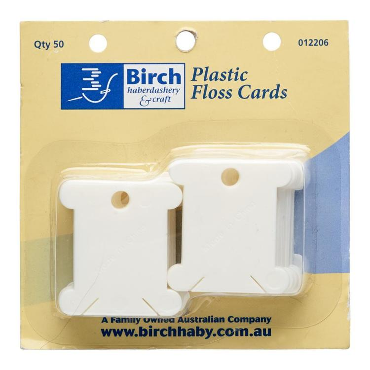 Birch 50 Piece Plastic Floss Bobbins