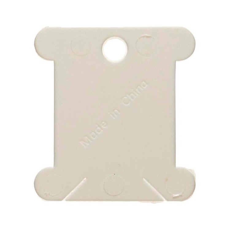 Birch Plastic Floss Bobbins White