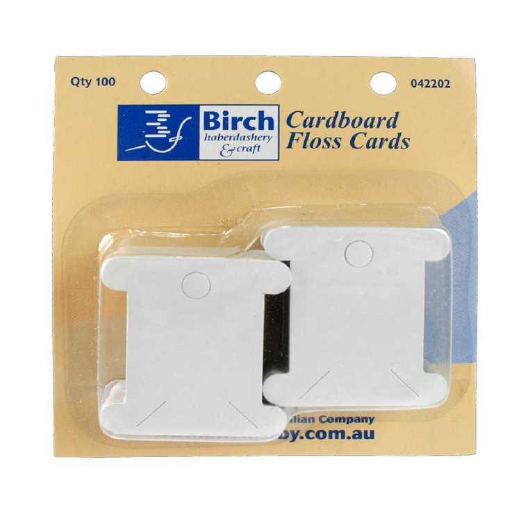 Birch Floss Bobbin 100Pk Cardboard