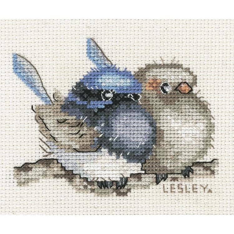 DMC Mini Australian Blue Wren Cross Stitch Kit