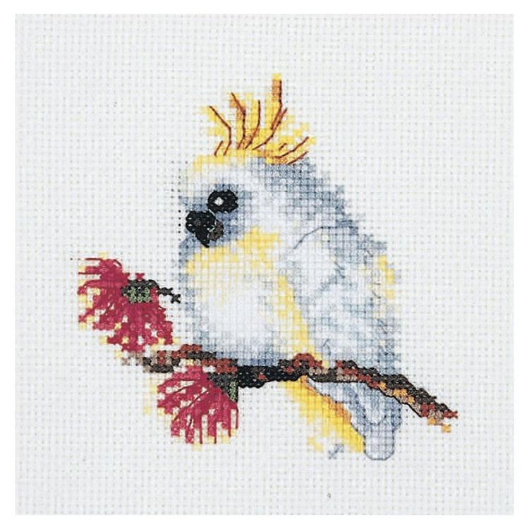 DMC By Leuts Australian Baby Cockatoo Cross Stitch Kit Multicoloured