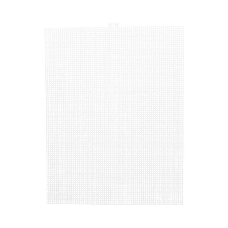 Shamrock Plastic Mesh 7 Count Canvas Sheet White