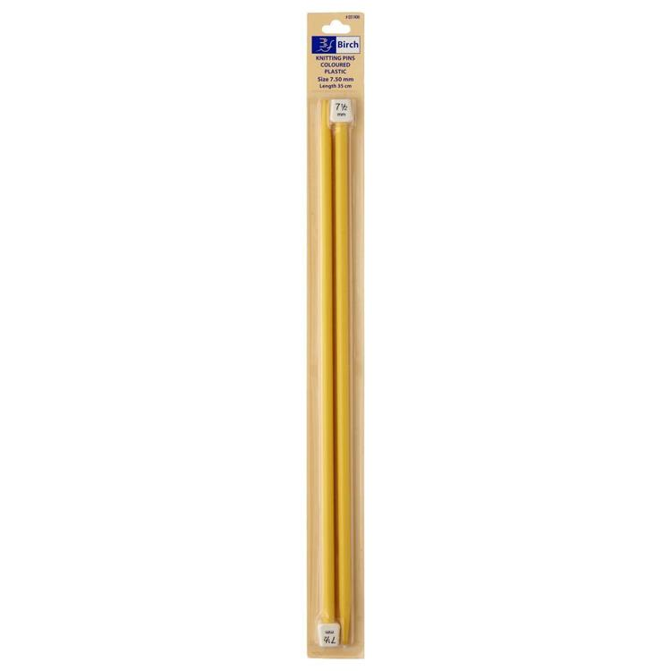Birch 35 cm Plastic Knitting Needle