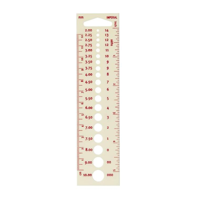 Birch Knitting Pin 12 cm Gauge