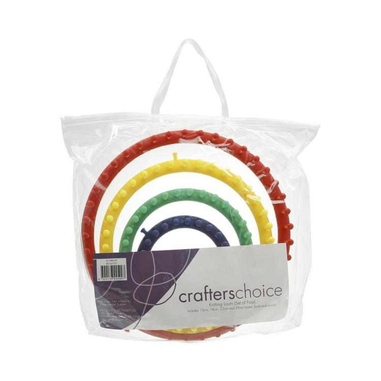 Crafters Choice Circular Knitting Loom Set of 4 Multicoloured