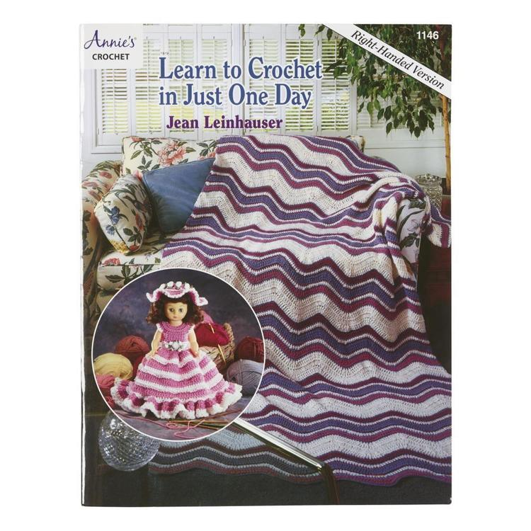 American School Of Needlework Learn To Crochet Right Handed White