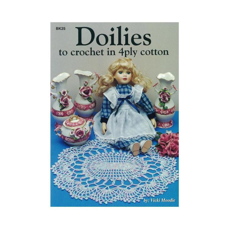 Craft Moods Doilies To Crochet In 4 Ply Cotton White