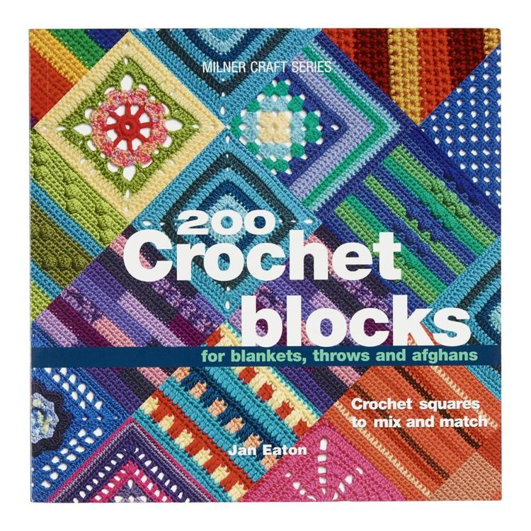 Sally Milner Publishing 200 Crochet Blocks White
